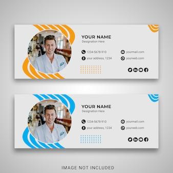 Modelo de assinatura de email comercial