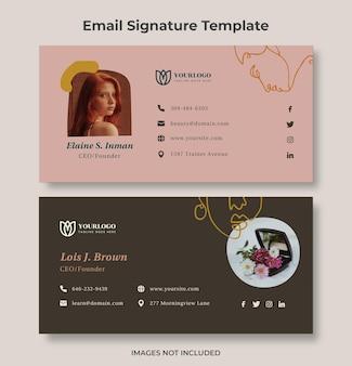 Modelo de assinatura de email minimalista