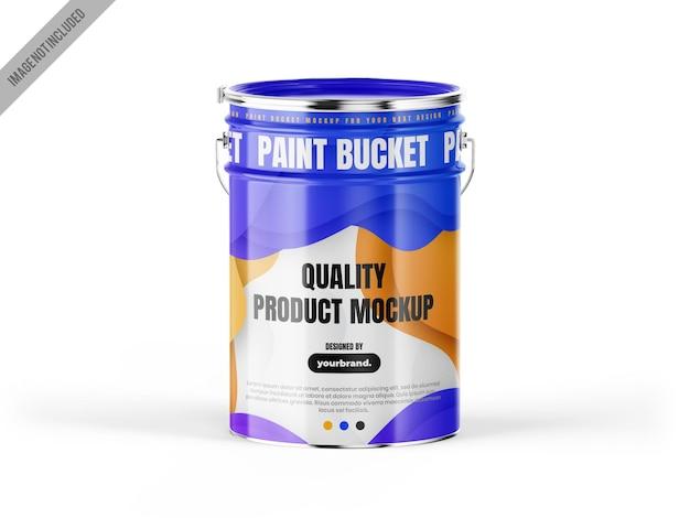Modelo de balde de tinta de metal tempalte