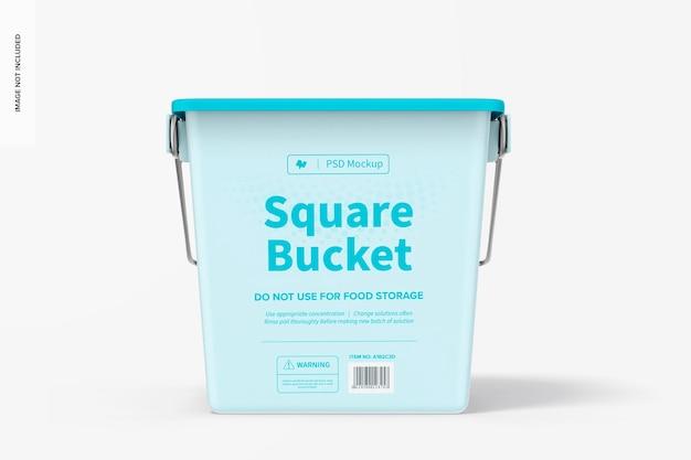 Modelo de balde quadrado
