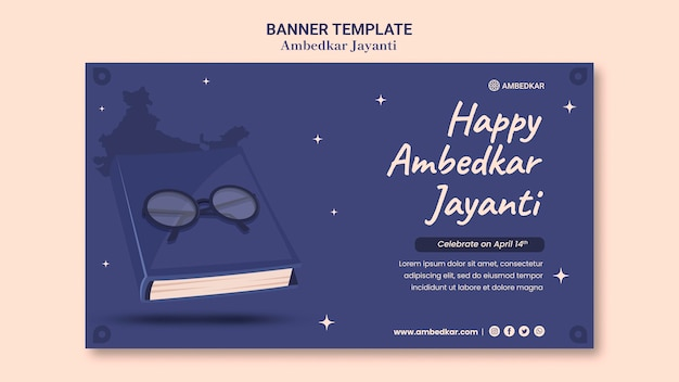 Modelo de banner ambedkar jayanti