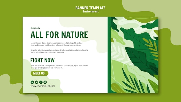 Modelo de banner ambiental