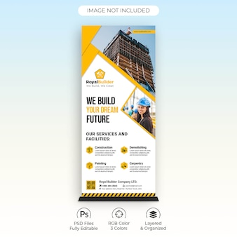Modelo de banner arregaçar construção civil