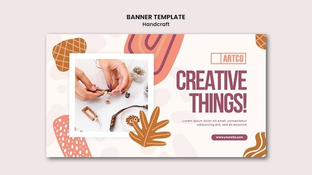Modelo de banner artesanal