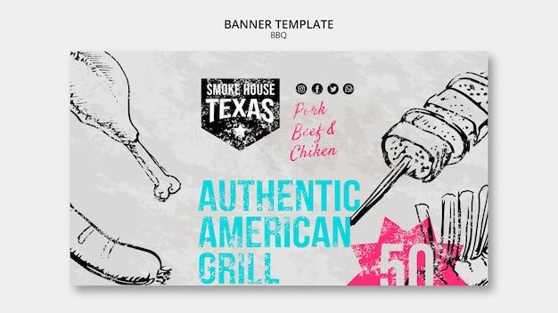 Modelo de banner autêntico american grill