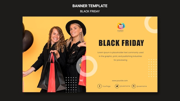 Modelo de banner black friday