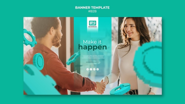 Modelo de banner business to business