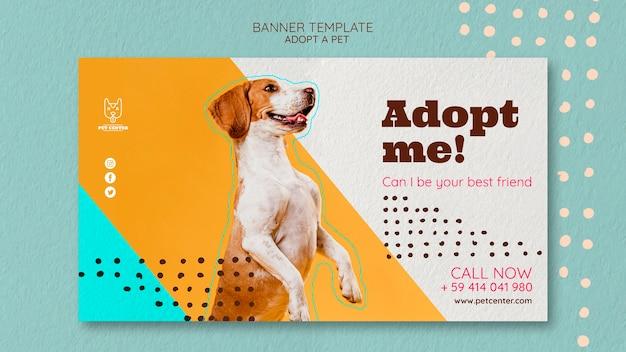 Modelo de banner com adoção de animais