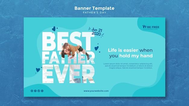 Modelo de banner com design de dia dos pais