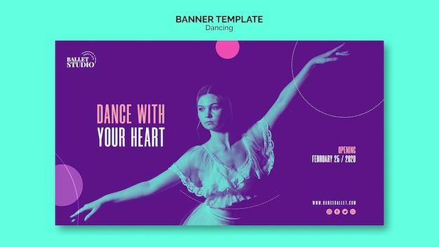 Modelo de banner com tema de dança