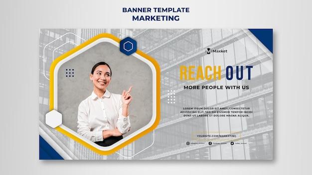 Modelo de banner comercial de marketing