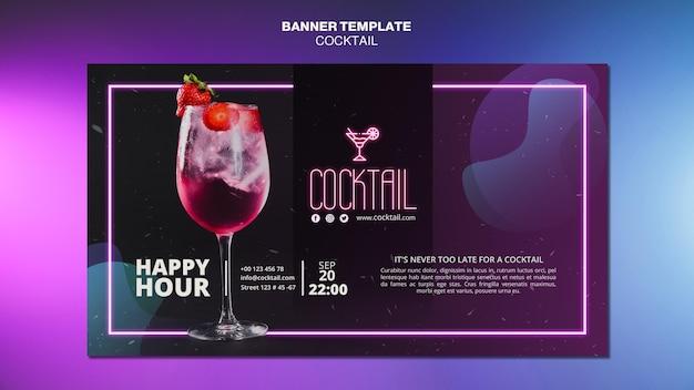 Modelo de banner conceito cocktail