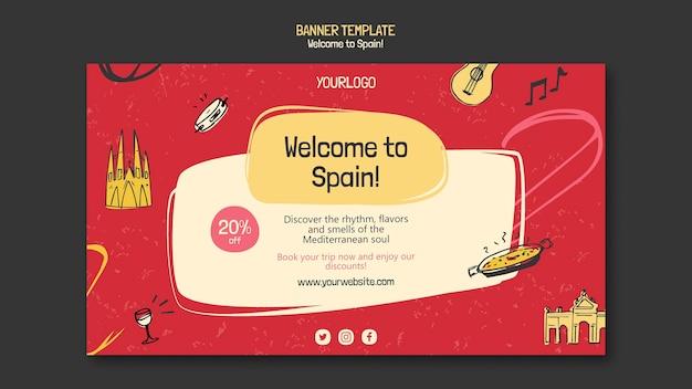 Modelo de banner da cultura espanhola