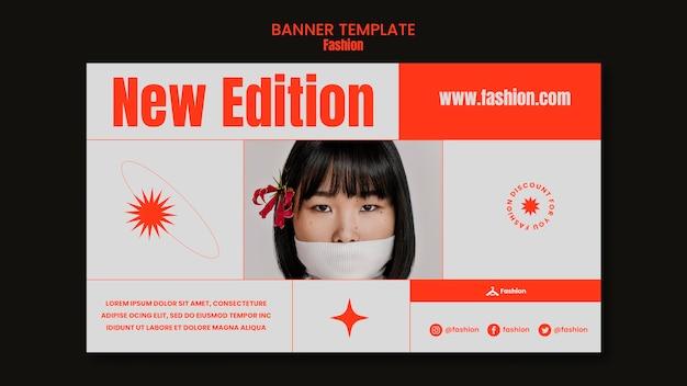 Modelo de banner da nova edição da moda