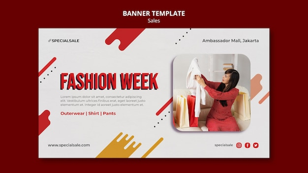 Modelo de banner da semana da moda