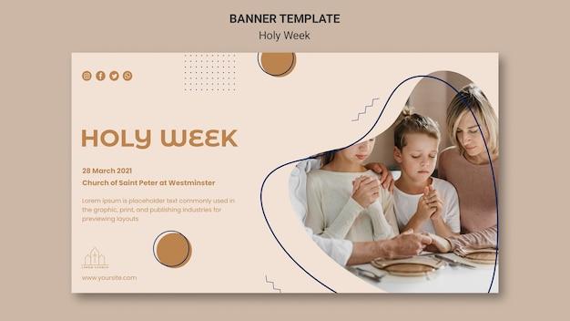 Modelo de banner da semana santa