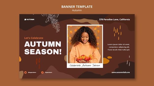 Modelo de banner da temporada de outono