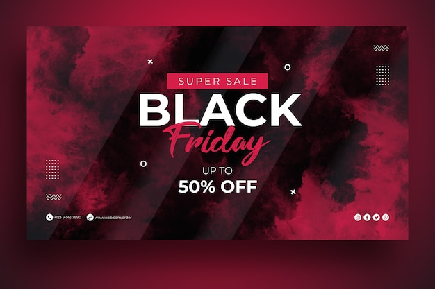 Modelo de banner da web black friday sale