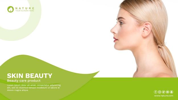 Modelo de banner da web com o conceito de beleza
