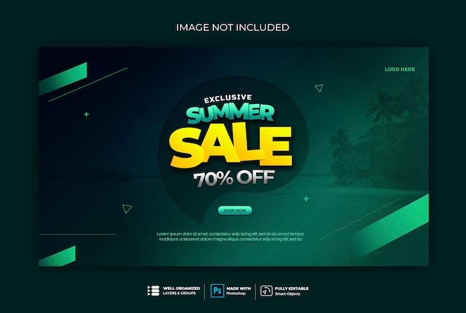 Modelo de banner da web de distintivo de banner de venda