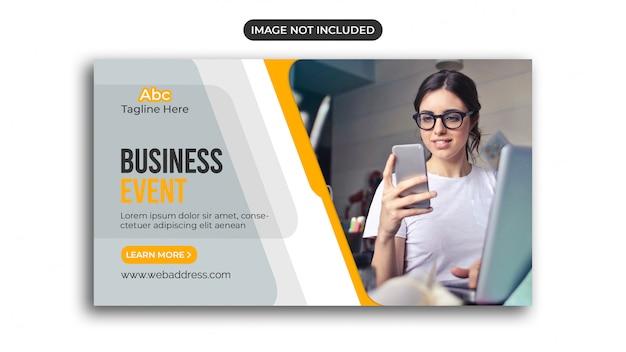 Modelo de banner da web de marketing digital
