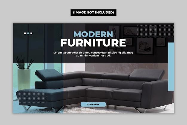 Modelo de banner da web de móveis modernos
