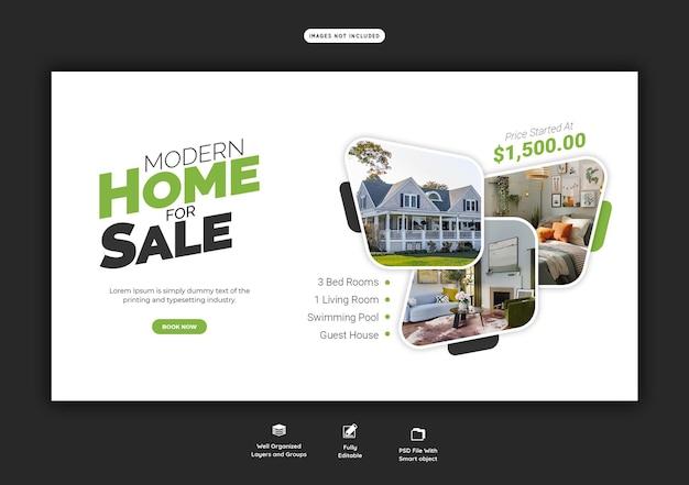 Modelo de banner da web de propriedade imobiliária Psd grátis
