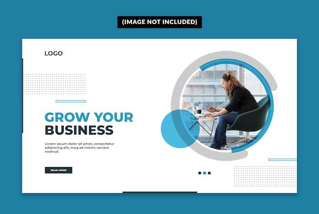 Modelo de banner da web empresarial