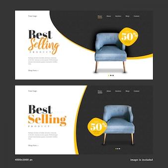 Modelo de banner da web mais vendido