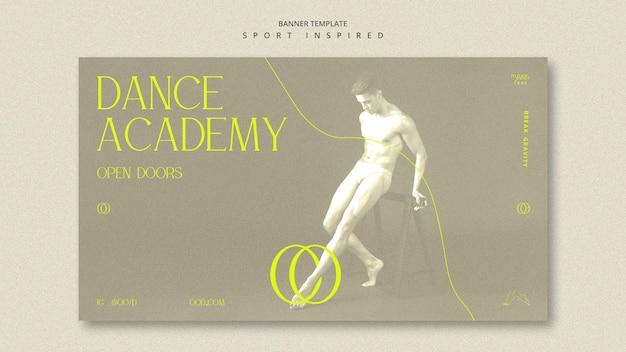 Modelo de banner de academia de dança