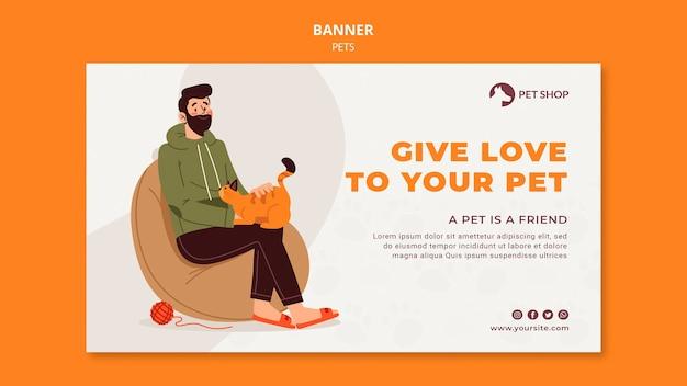 Modelo de banner de adoção de pet shop