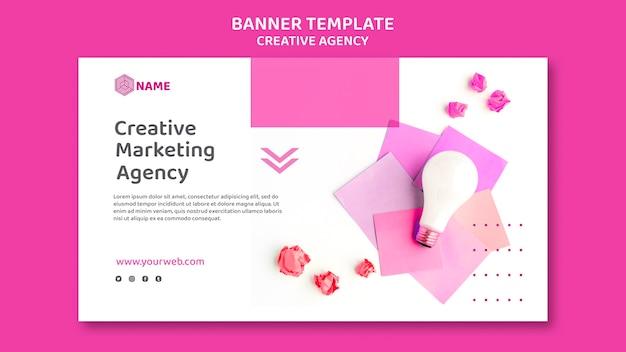 Modelo de banner de agência criativa