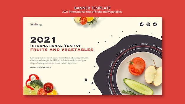 Modelo de banner de ano de frutas e vegetais