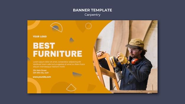 Modelo de banner de anúncio carpenter