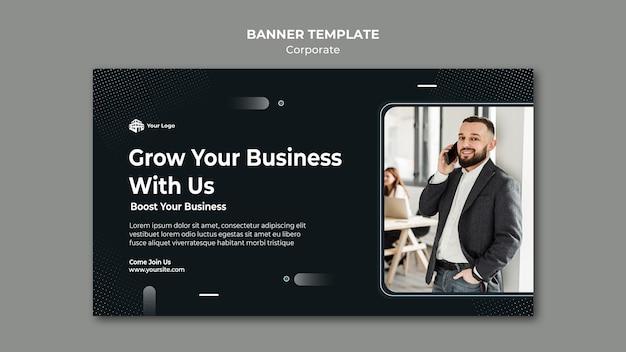 Modelo de banner de anúncio corporativo