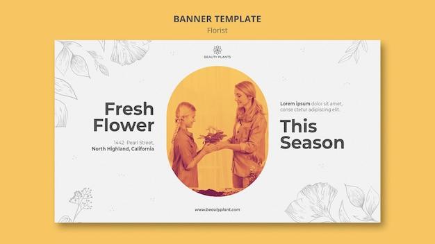 Modelo de banner de anúncio de florista