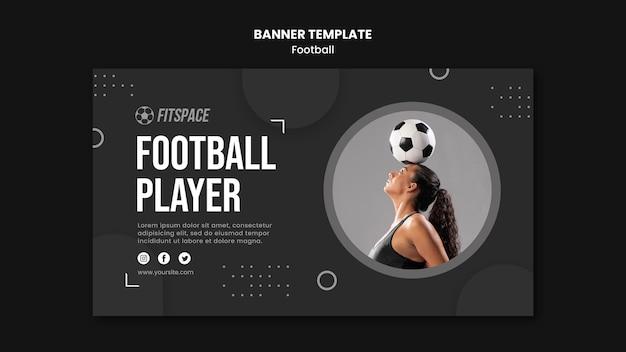 Modelo de banner de anúncio de futebol