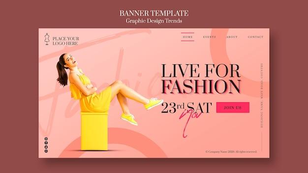 Modelo de banner de anúncio de loja de moda