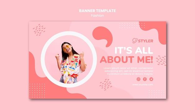 Modelo de banner de anúncio de moda