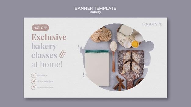 Modelo de banner de anúncio de padaria