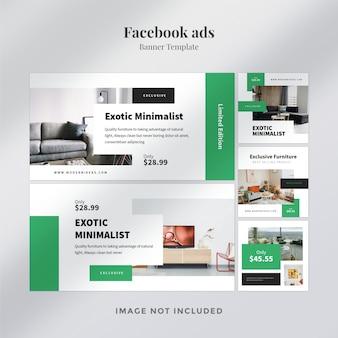 Modelo de banner de anúncio do facebook
