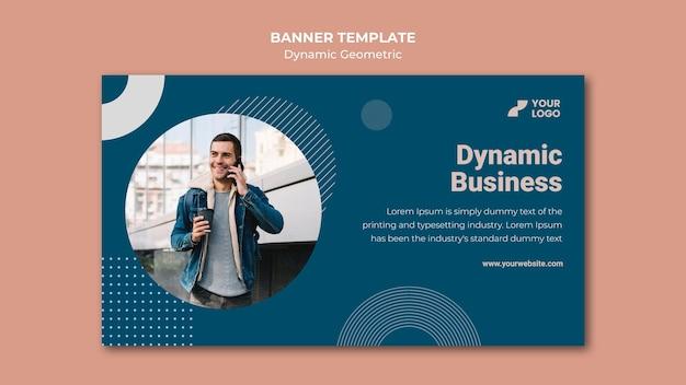 Modelo de banner de anúncio empresarial