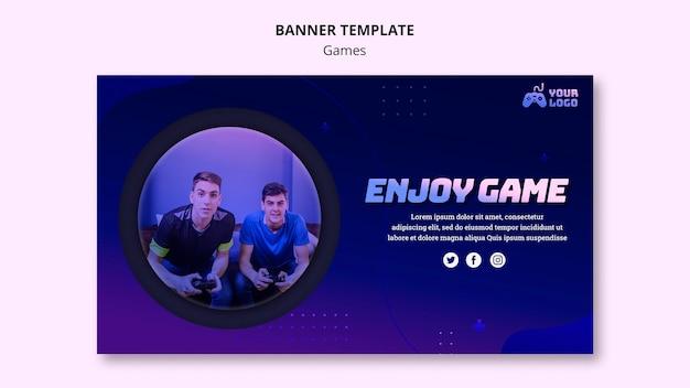 Modelo de banner de anúncio no local do jogo