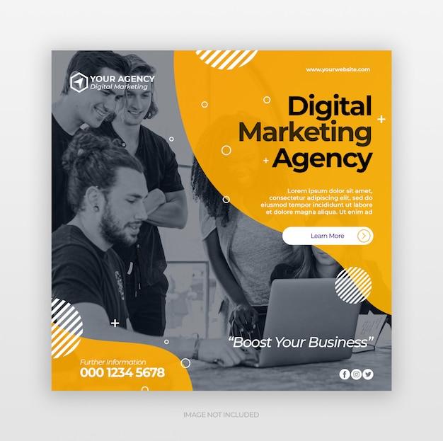 Modelo de banner de anúncios de marketing de negócios digitais