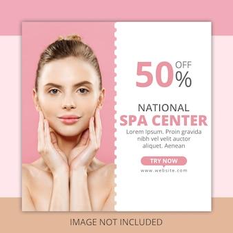 Modelo de banner de anúncios de spa
