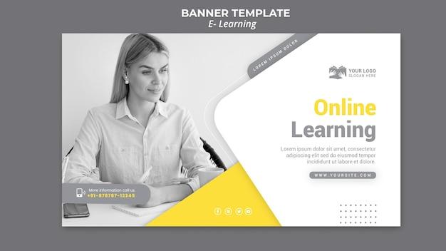 Modelo de banner de aprendizagem eletrônica