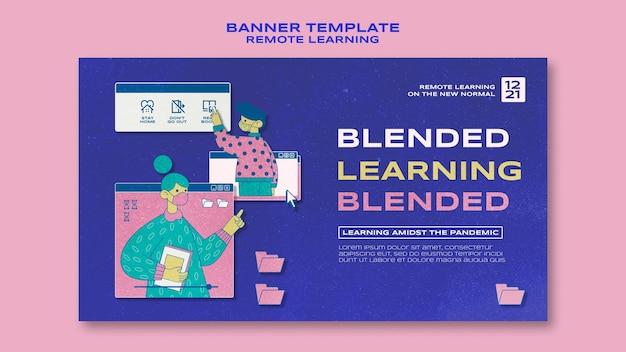 Modelo de banner de aprendizagem remota