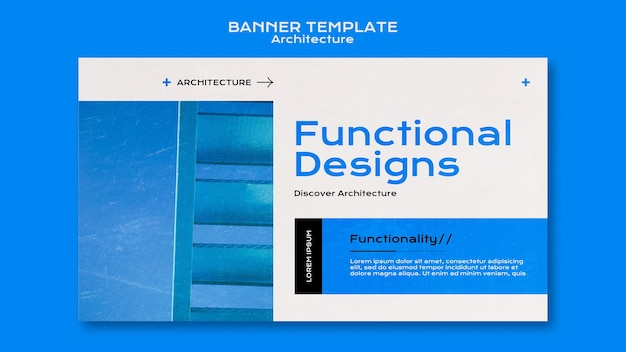 Modelo de banner de arquitetura