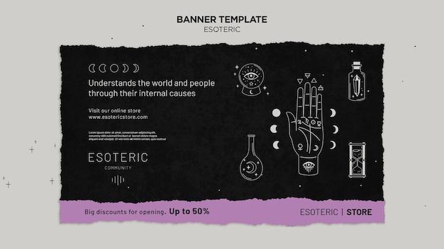 Modelo de banner de artesanato esotérico