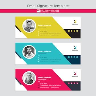 Modelo de banner de assinatura de email isolado